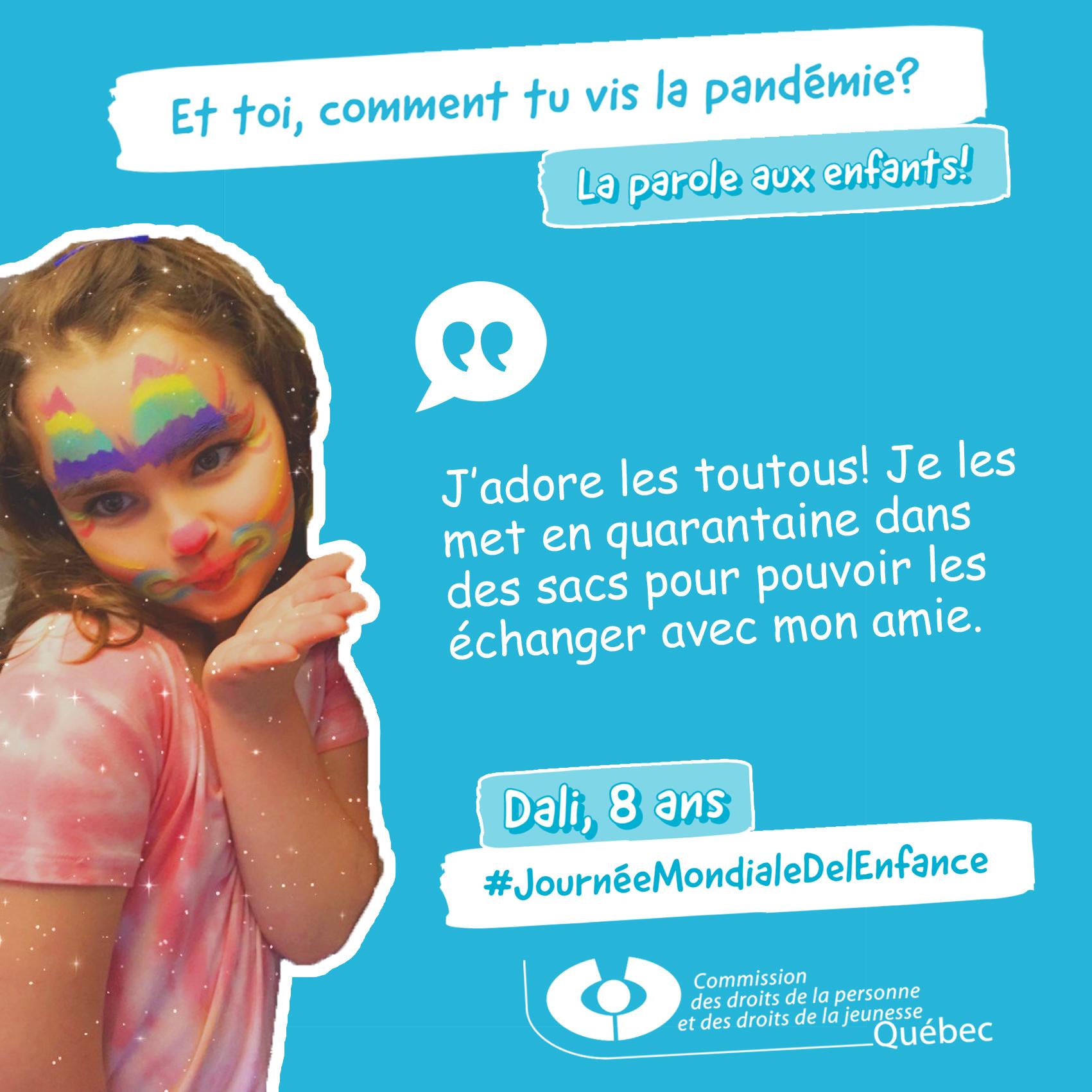 Photo et citation de Dali qui répond à la question Et toi, comment tu vis la pandémie?